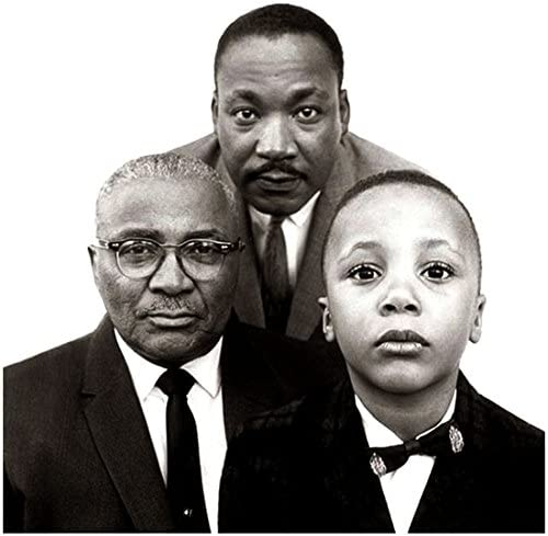 Martin Luther King Jr Martin Luther King Sr And Martin Luther King Iii Black And White 8 X 10 Inch Photo At Amazon S Entertainment Collectibles Store