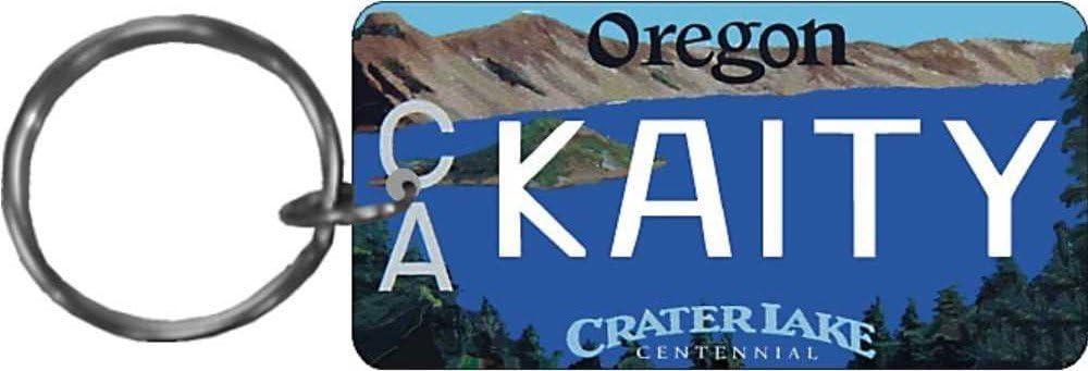 Personalized Oregon State License Plate Replica keychain