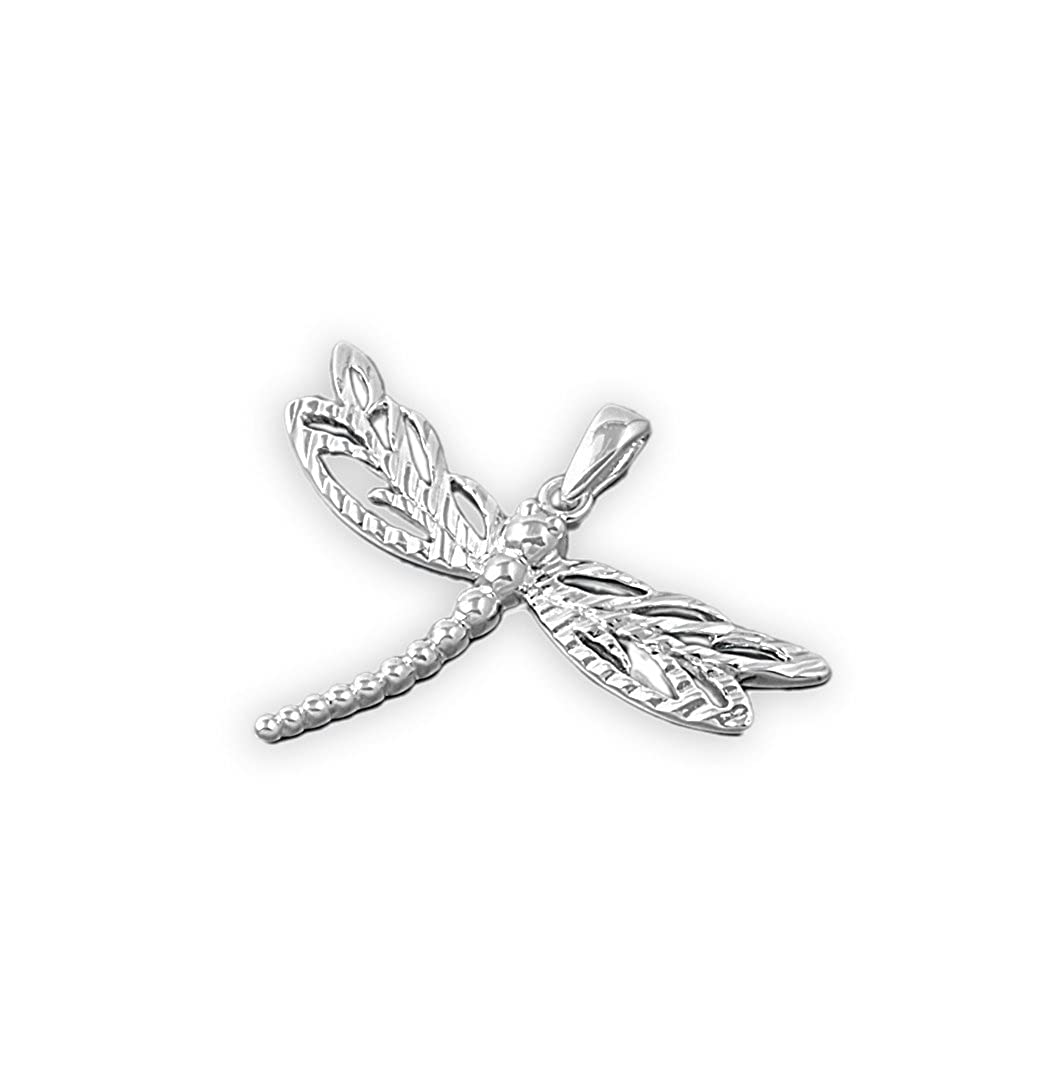CloseoutWarehouse Sterling Silver Dragonfly Pendant