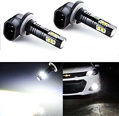 Jdm Astar Extremely Bright Max 50w High Power 881 Led Fog Light Bulbs For Drl Or Fog Lights Xenon White Amazon Ae