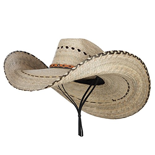 Mexican Style Wide Brim Straw Hat - Natural OSFM -