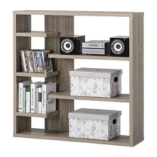 Homestar 6-Shelf Storage Bookcase in Reclaimed Wood by Home Star (Image #6)