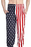 Arvilhill 4th of July Mens Sport Loose Pajama Casual Joggers Workout Running Pants American Flag M