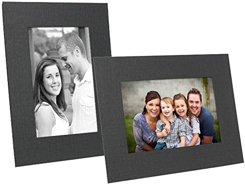 (Black Cardstock photo easel 8.50x11 frame w/plain border sold in 25s - 8.5x11)