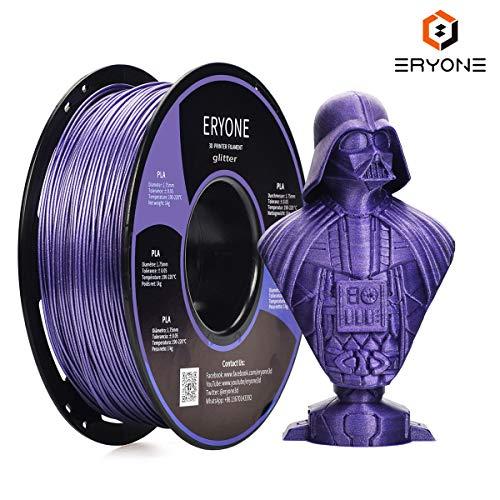ERYONE Sparkly Glitter Purple PLA 3D Printer Filament 1.75mm 1kg (2.2LBS)/Spool