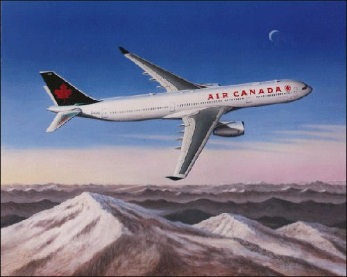 Air Canada Airbus (Air Canada Airbus, by Mike Machat - 340 Artist Proof from Limited Edition)