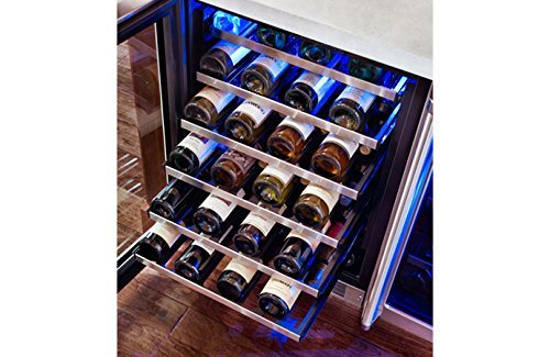 Marvel MP24WSG4RS Professional Single Zone Wine Cellar Framed Glass Door, 24'', Stainless Steel