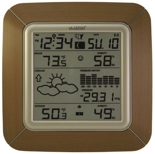 La Crosse Technology WS-9057U-IT Forecast Station with Barometer, Temperature, Humidity and Moon Phase, Alarm by La Crosse Technology