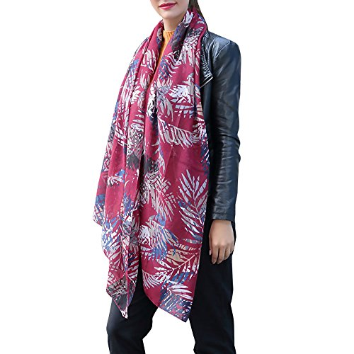 ❤️ Sunbona Clearance Sale Women Sunscreen Shawl Scarves Ladies New Arrival Fashion Printed Satin-Silk Scarf Beach Scarf for Evening Dresses (Red)