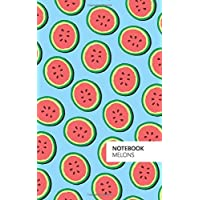Melons Notebook: (Powder Blue Edition) Fun notebook 96 ruled/lined pages (5x8 inches / 12.7x20.3cm / Junior Legal Pad / Nearly A5)