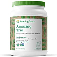 Amazing Grass Organic Amazing Trio Greens Powder with Wheat Grass, Barley Grass and Alfalfa, 100 Servings