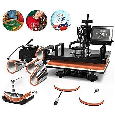 SUNCOO Heat Press Machine Swing Away Digital Sublimation Heat Pressing Transfer Machine for T-Shirt/Mug/Hat Plate/Cap