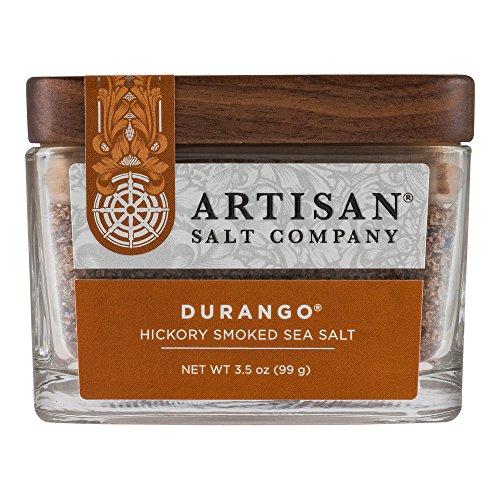 (SaltWorks Durango Hickory Smoked Sea Salt, Artisan Glass Jar, 3.5 Ounce)