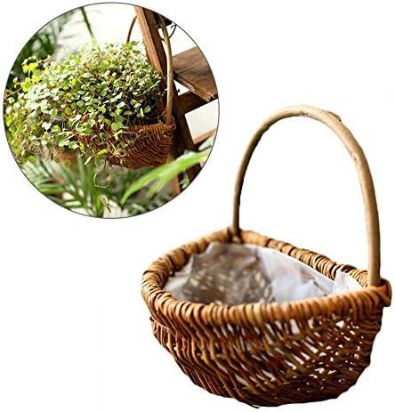 perfecti Blumentopf Vase Eimer Zum Aufhängen Holz Blumenkorb Hängende Garten Pflanzgefäß Weidenkorb Sukkulenten Für Balkon Heimdekoration