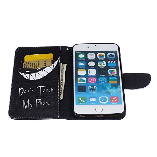 Wallet Leather Tasche Hüllen Schutzhülle - case with Stand for iPhone 6s Plus / 6 Plus - Do not Touch My Phone