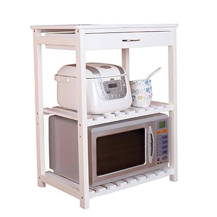 ZXQZ Kitchen Shelf / Solid Wood / Microwave Shelf / Oven Stand / Removable  Kitchen Storage