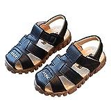 lakiolins Toddler Boys Closed Toe Anti-Slip Adventure Seekers Beach Walking Flat Shoes Black Size 6.5M