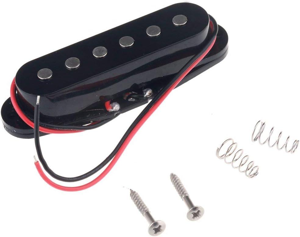 Musiclily 50mm Bobina Simple Pastilla de Media para Guitarra eléctrica Estilo Strat, Negro