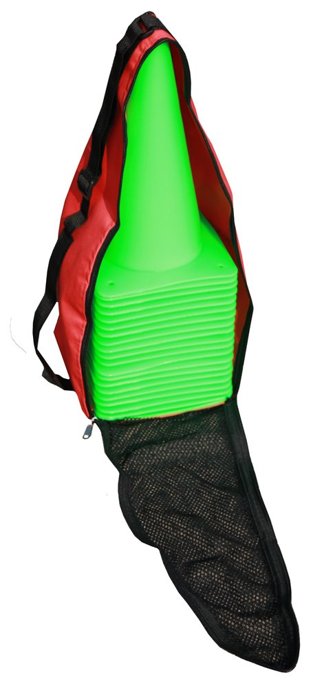 Boje Sport 20個のマーキングコーン30 cm、ライトグリーン、キャリングバッグ付き