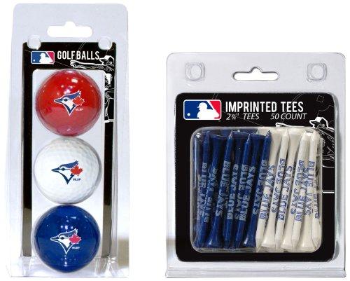 Team Golf MLB Toronto Blue Jays Logo Imprinted Golf Balls (3 Count) & 2-3/4