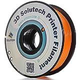 3D Solutech Real Orange 3D Printer PLA Filament 1.75MM Filament, Dimensional Accuracy +/- 0.03 mm, 2.2 LBS (1.0KG)