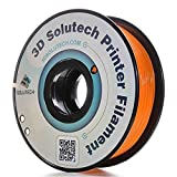 3D Solutech PLAOR Real 3D PRINTER PLA Filament 1.75mm Filament, Dimensional Accuracy +/0.03 mm, 2Lbs (1.0kg), 1.75Millimeters, PLA, Orange