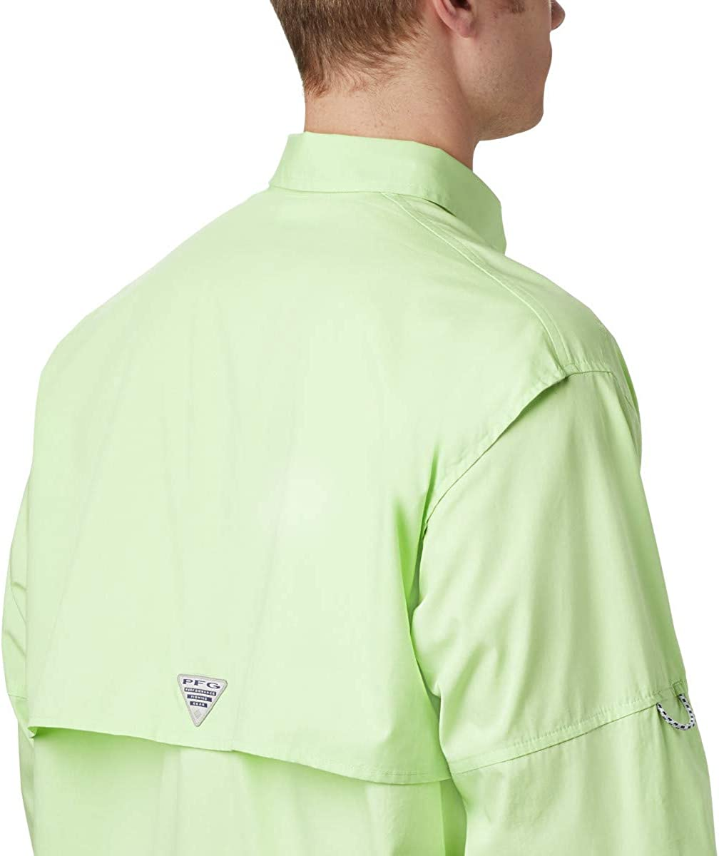 Relaxed Fit Cotton Columbia Mens PFG Bonehead Long Sleeve Shirt