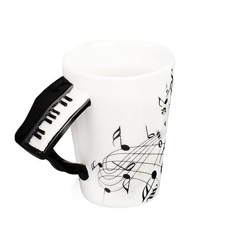 Poignée Tasse Porcelaine De Forme Note1 En Mug Avec Piano Musique dBexoC