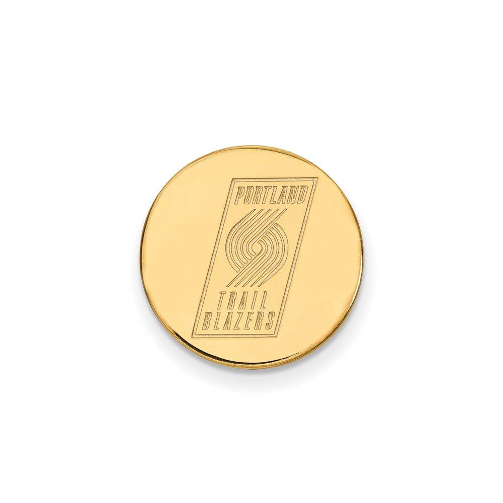 NBA Portland Trail Blazers Lapel Pin in 14K Yellow Gold