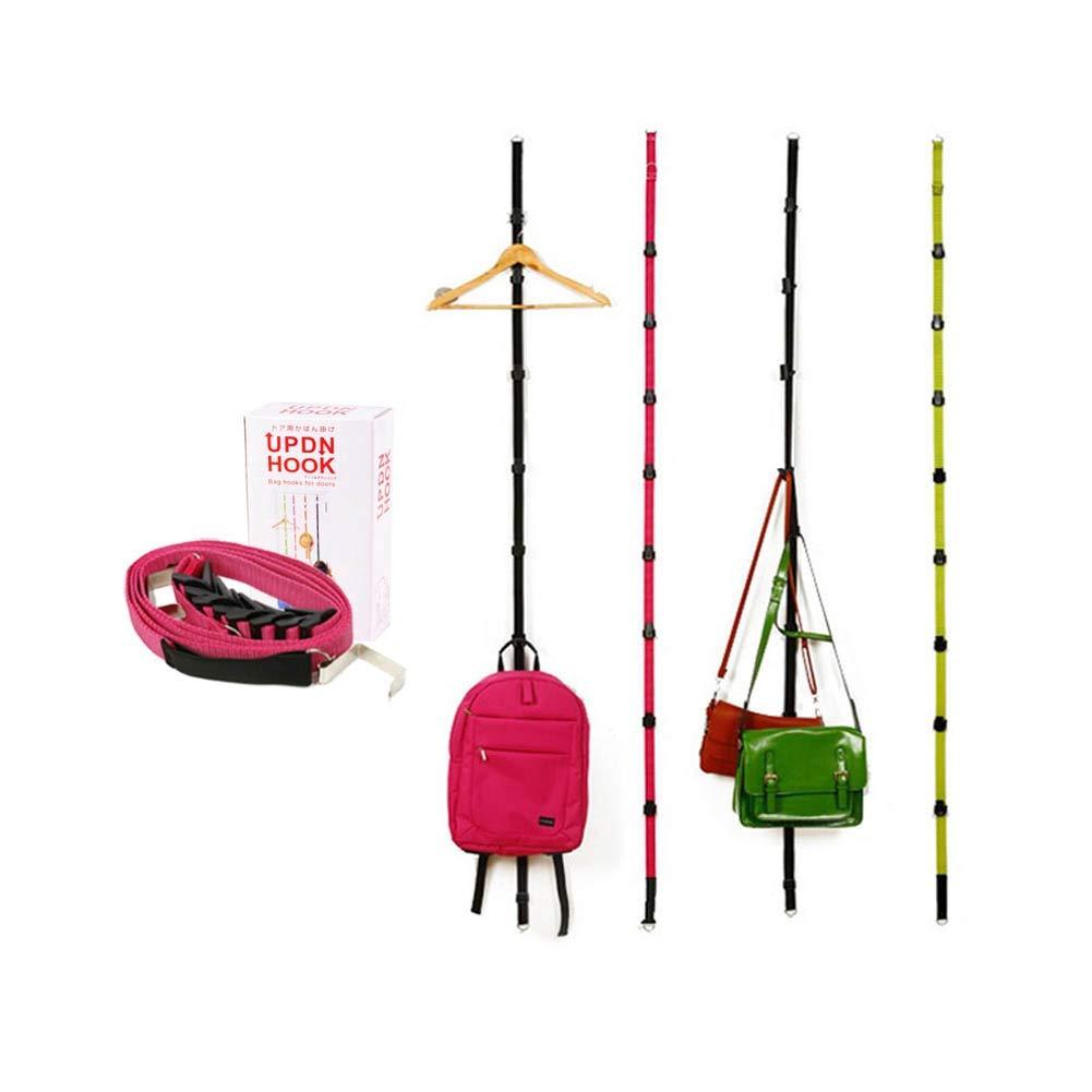 BNC Up-Down Door Accessory Hanger - Scarf, Belt, Hat, Jewelry Organizer - Vertical 2 Hook x 4 Count
