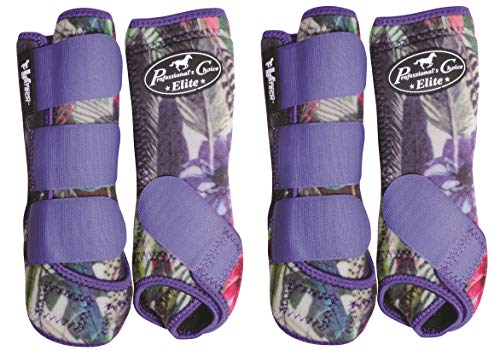 (Professional's Choice Ventech Elite 4 Pack Horse Equine SMB Medicine Boots Summer Collection Feather (Small) )