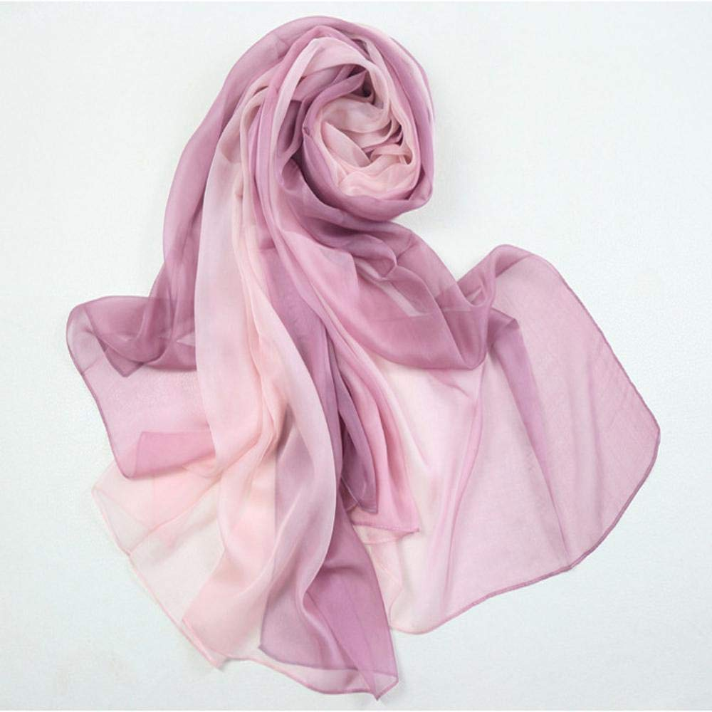 Beige Weiwei Ladies Silk Shawl Silk Scarf Send Friends and Family Lightweight and Breathable 180CM65CM