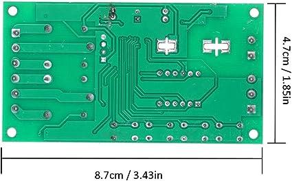 KKmoon Module de relais de temporisation 2 canaux DC 7~30V Affichage /à DEL 0.01s ~ 999min D/éclencheur dimpulsions r/églable hors tension Circulation Commutateur de synchronisation
