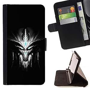 BullDog Case - FOR/Samsung Galaxy S3 III I9300 / - / Evil Alien /- Monedero de cuero de la PU Llevar cubierta de la caja con el ID Credit Card Slots Flip funda de cuer