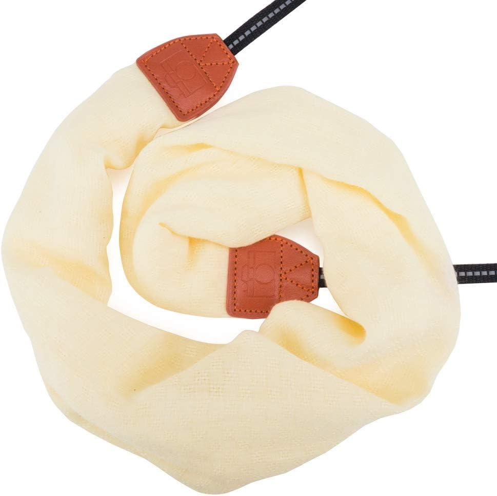 DC Orange Flower Wolven Soft Scarf Camera Neck Shoulder Strap Belt Compatible with All DSLR//SLR//Digital Camera // Instant Camera//Polaroid Etc