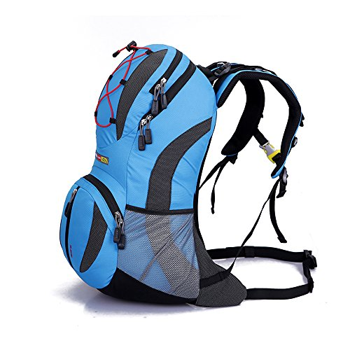 WIN 22L Water resistant Cycling Outdoor Backpack Bike Riding Mountain Bicycle Travel Hiking Camping Running Water Bag (Blue)