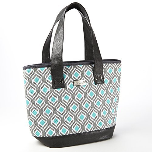 Fit & Fresh Signature Collection Ladies' Melbourne Insulated Tote (Aqua Leaf Drop)