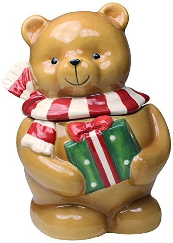 (Cosmos 56544 Gifts Seasonal Teddy Bear Ceramic Candy Box, 7-1/4-Inch)