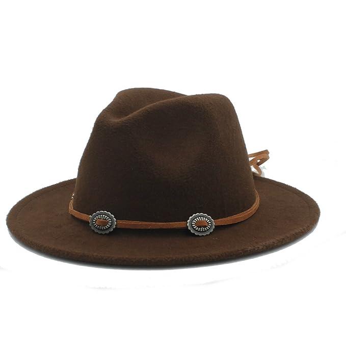 Battle Men Women s Panama Fedora Wide Brim Hat with Brown Thin Suede Belt (  Color   32ff46cc84b