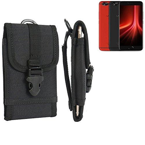 bolsa del cinturón / funda para UMIDIGI Z1 Pro, negro   caja del teléfono cubierta protectora bolso - K-S-Trade (TM)