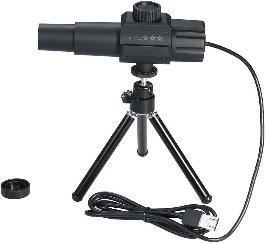 YWT Telescopio USB Monocular 2MP 70X Ampliación de Zoom Cámara escalable Ajustable con Soporte de trípode, para fotografiar en Exteriores Grabar en Video pájaros