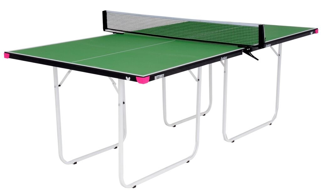 Butterfly Junior 3/4 Size Table Tennis Table - 3 Year Warranty-Wheels-No Assembly