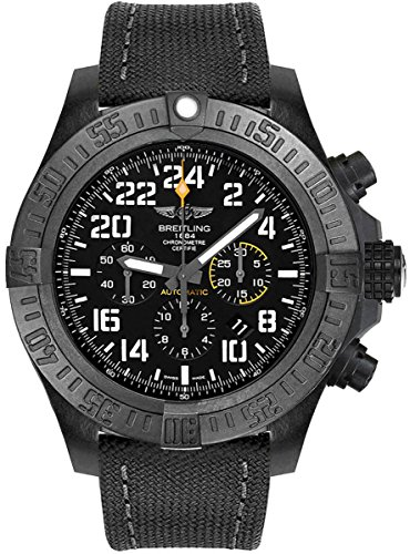 Breitling Avenger Hurricane 50 mm Men's Watch w/Anthracite Canvas Strap XB1210E4/BE89-100W