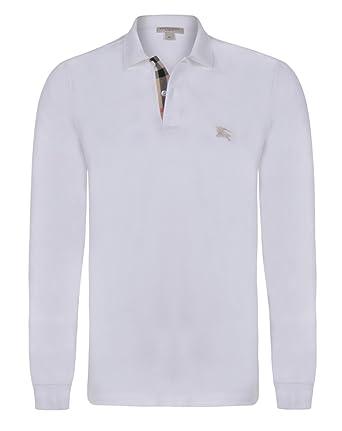BURBERRY - Polo - para hombre Weiß XL: Amazon.es: Ropa y accesorios