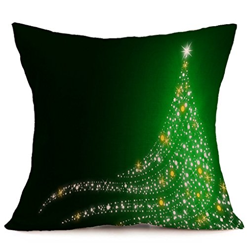 Pillow Cover,Haoricu Vintage Christmas Cartoon Smowman Penguin Sofa Bed Home Decoration Festival Pillow Case Cushion Cover (H)