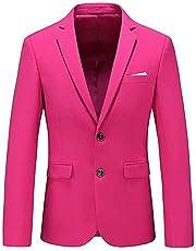 Men's Peak Lapel 2 Buttons Suit Jacket Slim Fit Prom Party Coat Wedding Dinner Coat Casual Coat