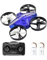 ATOYX AT-66 Mini Drone, RC Drone Niños 3D Flips, Modo sin Cabeza, Estabilización de Altitud, 3 Modos de Velocidad 4 Canales 6-Ejes, Año Nuevo para Niños y Principiantes