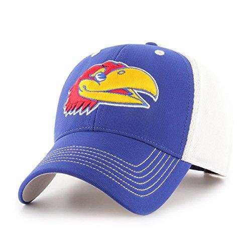 Kansas Jayhawks Ku Baseball - NCAA Kansas Jayhawks Sling OTS All-Star MVP Adjustable Hat, Royal, One Size