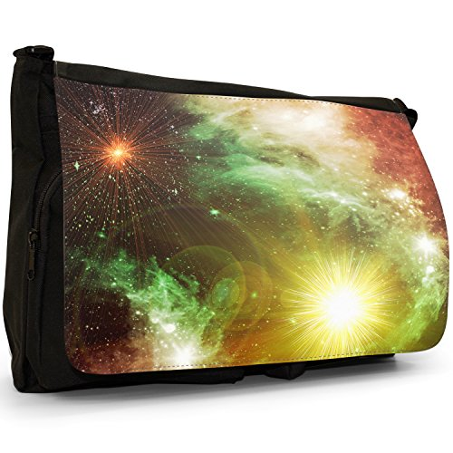 Stars Black Large School Bag Of Planet Laptop Space A Canvas Shoulder Exploration Messenger wtUn5qzT