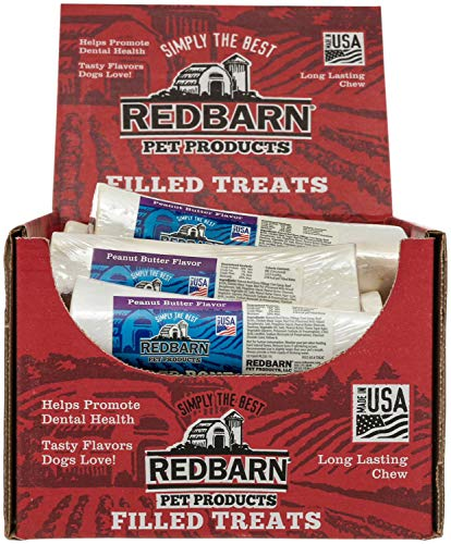 Red Barn 6in Large Filled Bone Peanut Butter 30 ct (2x15 ct case)